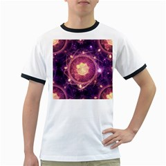 A Gold And Royal Purple Fractal Map Of The Stars Ringer T Shirts
