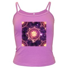 A Gold And Royal Purple Fractal Map Of The Stars Dark Spaghetti Tank