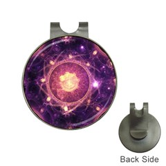 A Gold And Royal Purple Fractal Map Of The Stars Hat Clips With Golf Markers