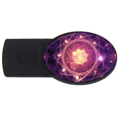 A Gold And Royal Purple Fractal Map Of The Stars Usb Flash Drive Oval (4 Gb)
