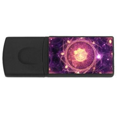 A Gold And Royal Purple Fractal Map Of The Stars Usb Flash Drive Rectangular (4 Gb) by jayaprime