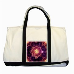 A Gold And Royal Purple Fractal Map Of The Stars Two Tone Tote Bag