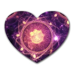 A Gold And Royal Purple Fractal Map Of The Stars Heart Mousepads