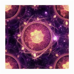 A Gold And Royal Purple Fractal Map Of The Stars Medium Glasses Cloth (2 Side)