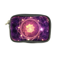 A Gold And Royal Purple Fractal Map Of The Stars Coin Purse by jayaprime