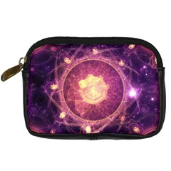 A Gold And Royal Purple Fractal Map Of The Stars Digital Camera Cases