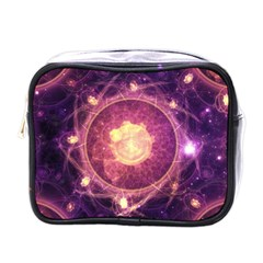 A Gold And Royal Purple Fractal Map Of The Stars Mini Toiletries Bags