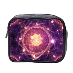 A Gold And Royal Purple Fractal Map Of The Stars Mini Toiletries Bag 2 Side