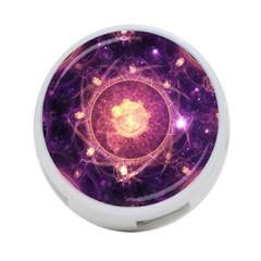 A Gold And Royal Purple Fractal Map Of The Stars 4 Port Usb Hub (one Side)