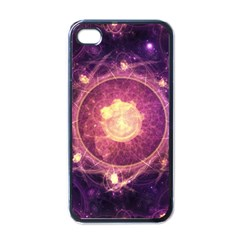 A Gold And Royal Purple Fractal Map Of The Stars Apple Iphone 4 Case (black) by jayaprime