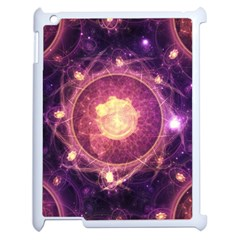A Gold And Royal Purple Fractal Map Of The Stars Apple Ipad 2 Case (white)