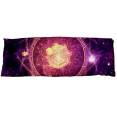A Gold And Royal Purple Fractal Map Of The Stars Body Pillow Case (dakimakura) by jayaprime