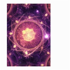 A Gold And Royal Purple Fractal Map Of The Stars Small Garden Flag (two Sides)