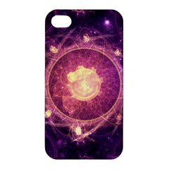 A Gold And Royal Purple Fractal Map Of The Stars Apple Iphone 4/4s Premium Hardshell Case by jayaprime