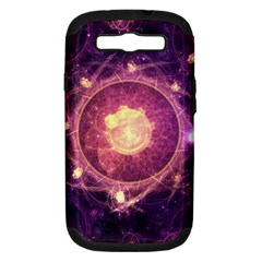 A Gold And Royal Purple Fractal Map Of The Stars Samsung Galaxy S Iii Hardshell Case (pc+silicone)