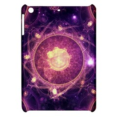 A Gold And Royal Purple Fractal Map Of The Stars Apple Ipad Mini Hardshell Case by jayaprime