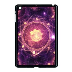A Gold And Royal Purple Fractal Map Of The Stars Apple Ipad Mini Case (black) by jayaprime