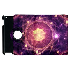 A Gold And Royal Purple Fractal Map Of The Stars Apple Ipad 3/4 Flip 360 Case