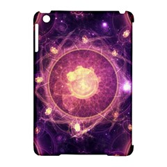 A Gold And Royal Purple Fractal Map Of The Stars Apple Ipad Mini Hardshell Case (compatible With Smart Cover) by jayaprime