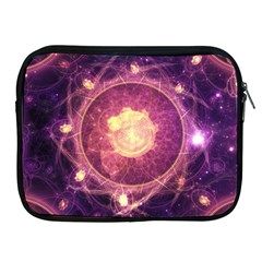 A Gold And Royal Purple Fractal Map Of The Stars Apple Ipad 2/3/4 Zipper Cases by jayaprime