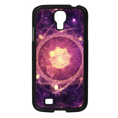 A Gold And Royal Purple Fractal Map Of The Stars Samsung Galaxy S4 I9500/ I9505 Case (black) by jayaprime