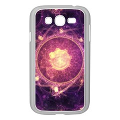A Gold And Royal Purple Fractal Map Of The Stars Samsung Galaxy Grand Duos I9082 Case (white)