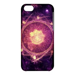 A Gold And Royal Purple Fractal Map Of The Stars Apple Iphone 5c Hardshell Case by jayaprime