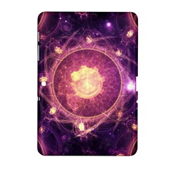 A Gold And Royal Purple Fractal Map Of The Stars Samsung Galaxy Tab 2 (10 1 ) P5100 Hardshell Case