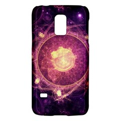 A Gold And Royal Purple Fractal Map Of The Stars Galaxy S5 Mini by jayaprime
