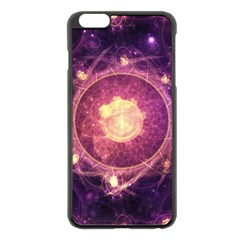 A Gold And Royal Purple Fractal Map Of The Stars Apple Iphone 6 Plus/6s Plus Black Enamel Case by jayaprime