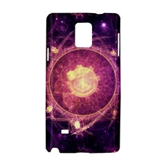 A Gold And Royal Purple Fractal Map Of The Stars Samsung Galaxy Note 4 Hardshell Case