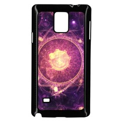 A Gold And Royal Purple Fractal Map Of The Stars Samsung Galaxy Note 4 Case (black)