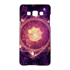 A Gold And Royal Purple Fractal Map Of The Stars Samsung Galaxy A5 Hardshell Case  by jayaprime