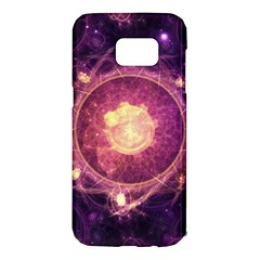 A Gold And Royal Purple Fractal Map Of The Stars Samsung Galaxy S7 Edge Hardshell Case by jayaprime