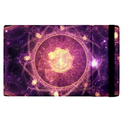 A Gold And Royal Purple Fractal Map Of The Stars Apple Ipad Pro 9 7   Flip Case by jayaprime