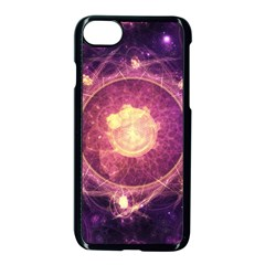 A Gold And Royal Purple Fractal Map Of The Stars Apple Iphone 7 Seamless Case (black) by jayaprime