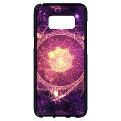 A Gold And Royal Purple Fractal Map Of The Stars Samsung Galaxy S8 Black Seamless Case by jayaprime