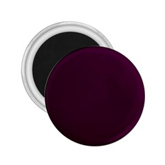 Black Cherry Solid Color 2 25  Magnets by SimplyColor