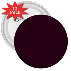 Black Cherry Solid Color 3  Buttons (10 Pack)  by SimplyColor