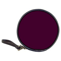 Black Cherry Solid Color Classic 20 Cd Wallets by SimplyColor