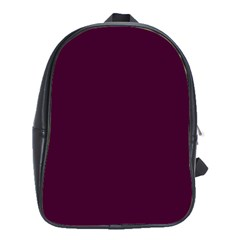 Black Cherry Solid Color School Bags(large)  by SimplyColor