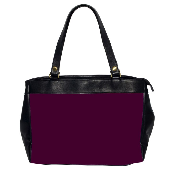 Black Cherry Solid Color Office Handbags (2 Sides)
