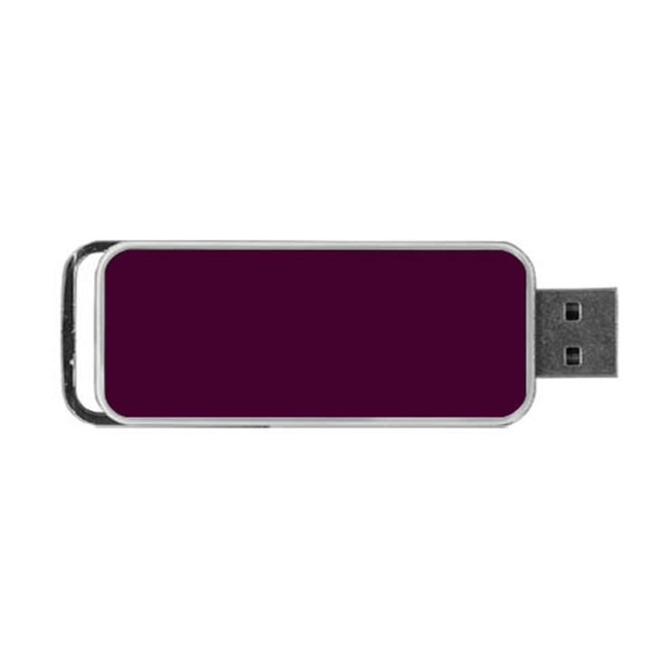 Black Cherry Solid Color Portable USB Flash (One Side)