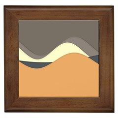 Wave Chevron Waves Material Framed Tiles by Mariart