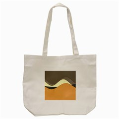 Wave Chevron Waves Material Tote Bag (cream)