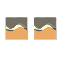 Wave Chevron Waves Material Cufflinks (square) by Mariart