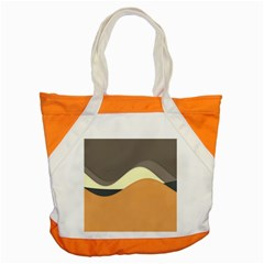 Wave Chevron Waves Material Accent Tote Bag by Mariart