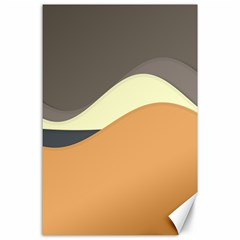Wave Chevron Waves Material Canvas 24  X 36  by Mariart