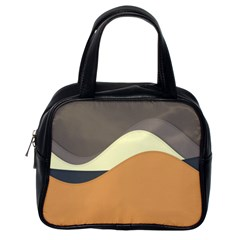 Wave Chevron Waves Material Classic Handbags (one Side) by Mariart