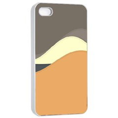 Wave Chevron Waves Material Apple Iphone 4/4s Seamless Case (white)